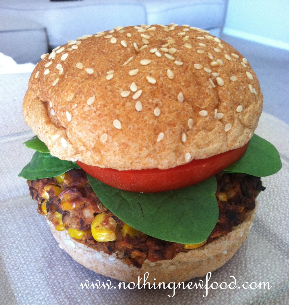 Homemade Black Bean Veggie Burger | Nothing New Food